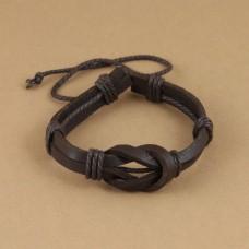 Leren mannen armband met grote lus