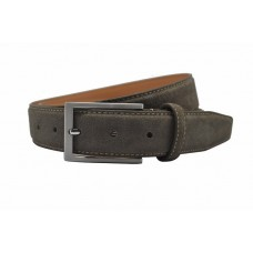 Suede heren riem - taupe