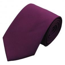 Effen zijde stropdas paars aubergine