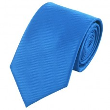 Effen zijden stropdas blauw