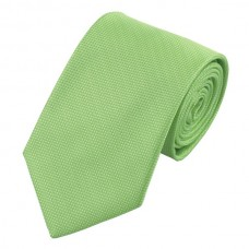 Effen zijden stropdas lente groen
