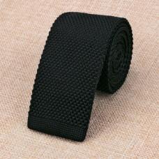 Gebreide stropdas zwart