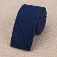 Gebreide stropdas donkerblauw