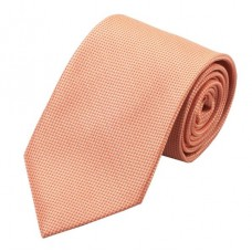 Effen zijden stropdas zalm