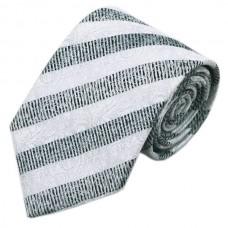 Stropdas zilver grijs gestreept