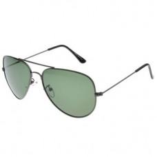 Pilotenbril groen met donker montuur - UV400 - gepolariseerd