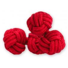 Bachelor knots manchetknopen - rood