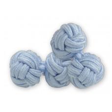 Bachelor knots manchetknopen - lichtblauw