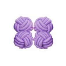 Bachelor knots manchetknopen - lila
