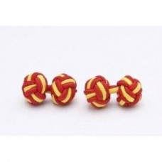Bachelor knots manchetknopen - geel-rood