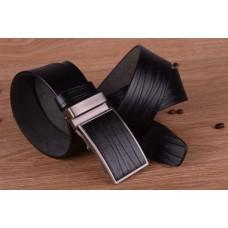 Leren mannen  / heren riem met dichte gesp - zwart