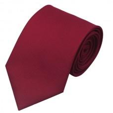 Effen zijden stropdas bordeaux rood