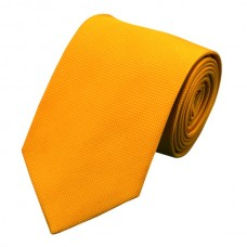 Effen zijden stropdas goud-oranje