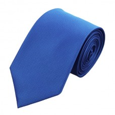 Effen zijden stropdas koningsblauw