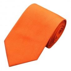 Effen zijden stropdas oranje