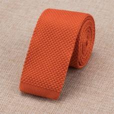 Gebreide stropdas oranje