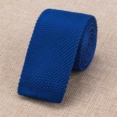 Gebreide stropdas koninklijk blauw