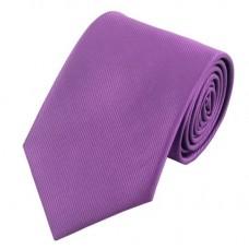 Effen zijden stropdas violet