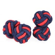Bachelor knots manchetknopen – rood-blauw